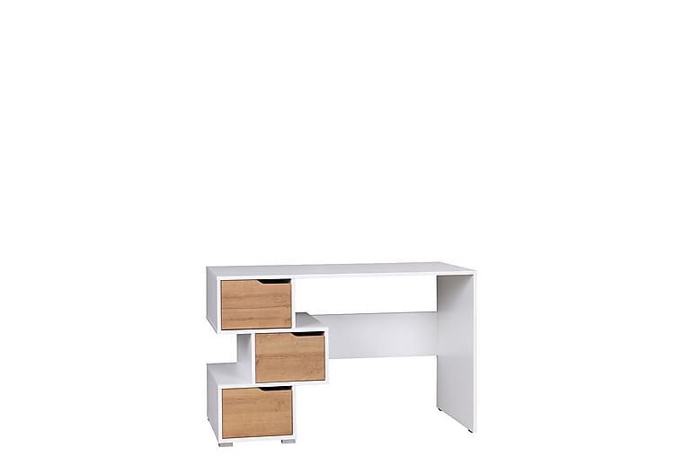 Skrivebord Iwa 50x120 cm - Hvit/Eik - Møbler - Bord - Skrivebord