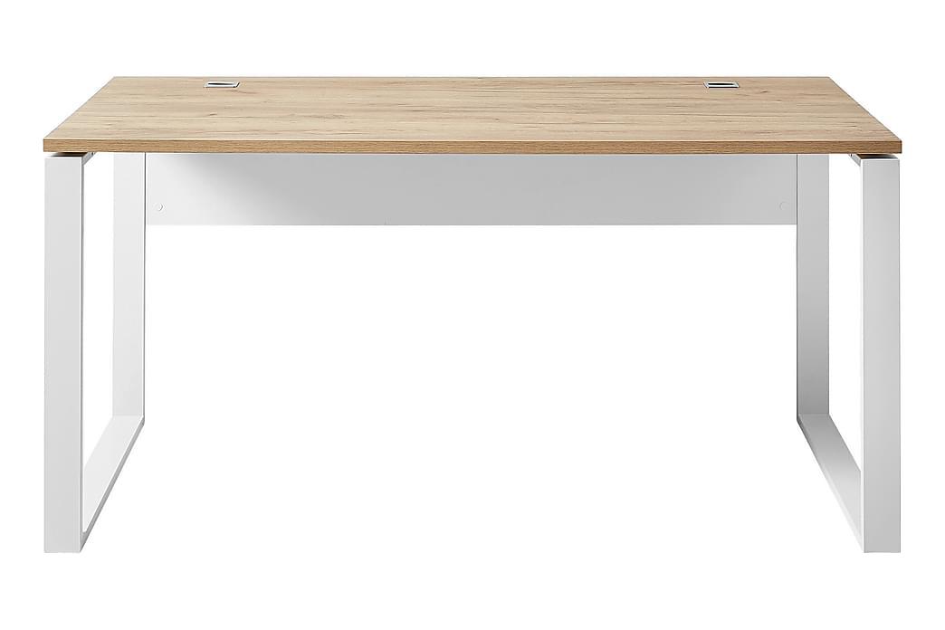 Skrivebord Lioni 158 cm - Beige|Hvit - Møbler - Bord - Skrivebord