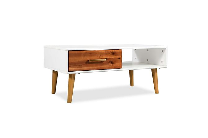 Davos Sofabord med 1 Skuff 90x50 cm - Hvit - Møbler - Bord - Sofabord