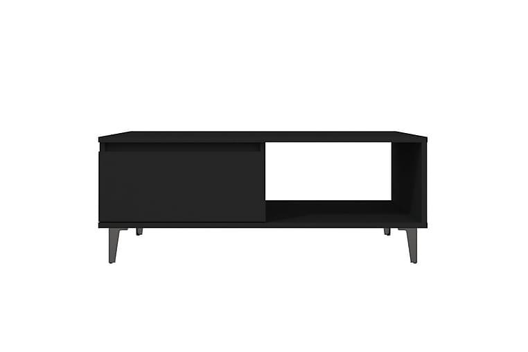 Salongbord svart 90x60x35 cm sponplate - Svart - Møbler - Bord - Sofabord
