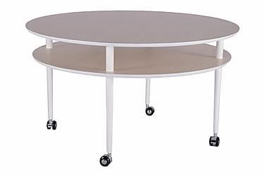 Sofabord Casper 90 cm med Hjul Ovalt