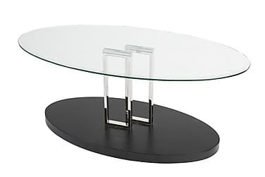 Sofabord Monza 120 cm Glass Transparent/Svart