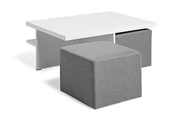 Sofabord Oliver 100 cm med 2 Puffer