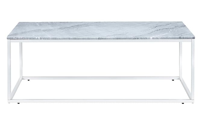 Sofabord Titania 120 cm Marmor - Grå|Hvit - Møbler - Bord - Sofabord