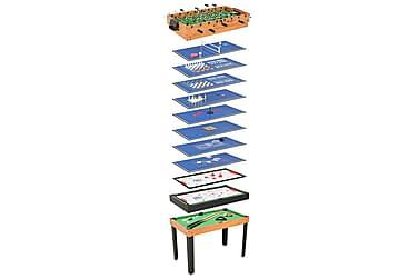 Multi-spillbord 15-i-1 121x61x82 cm lønnetre