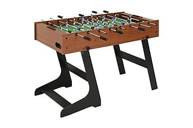 Sammenleggbart fotballbord 121x61x80 cm brun