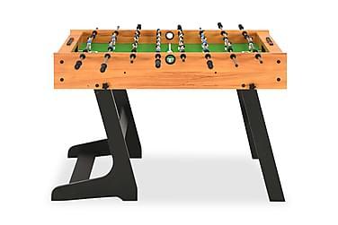 Sammenleggbart fotballbord 121x61x80 cm lys brun