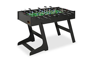 Sammenleggbart fotballbord 121x61x80 cm svart