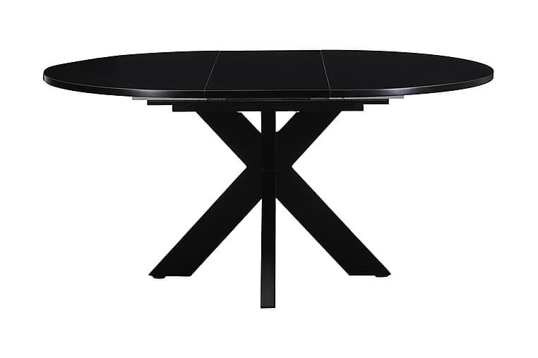 Bayview Spisebord Rundt 120 cm Forlengningsbart - Svart - Møbler - Bord - Spisebord & kjøkkenbord
