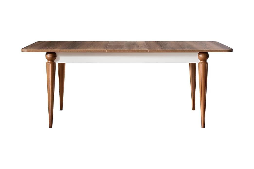 Spisebord Esenler Forlengningsbart 164 cm - Natur/Hvit - Møbler - Bord - Spisebord & kjøkkenbord