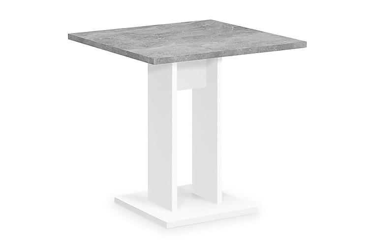 Spisebord Loriana 70 cm - Hvit|Betong - Møbler - Bord - Spisebord & kjøkkenbord