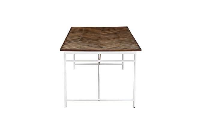 Spisebord Narses 200 cm - Hvit|Brun - Møbler - Bord - Spisebord & kjøkkenbord