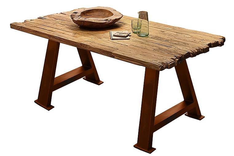 Spisebord Raital 160x90 cm - Resirkulert Teak/Brun - Møbler - Bord - Spisebord & kjøkkenbord