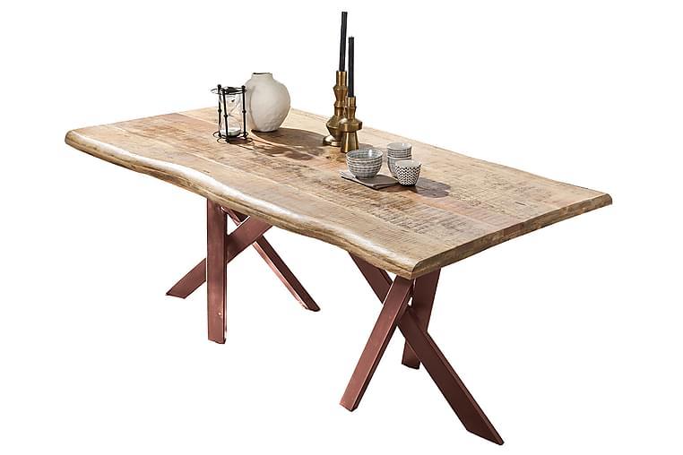 Spisebord Raital 220 cm - Mango/Natur/Brun - Møbler - Bord - Spisebord & kjøkkenbord