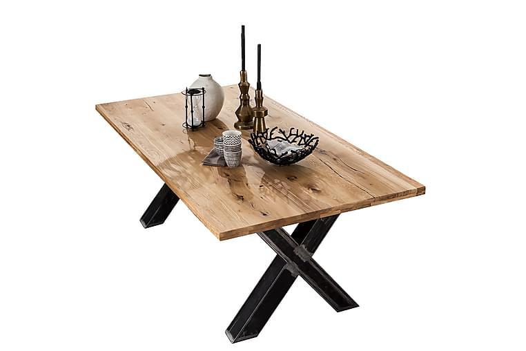 Spisebord Raital 240 cm - Eik/Sølv - Møbler - Bord - Spisebord & kjøkkenbord