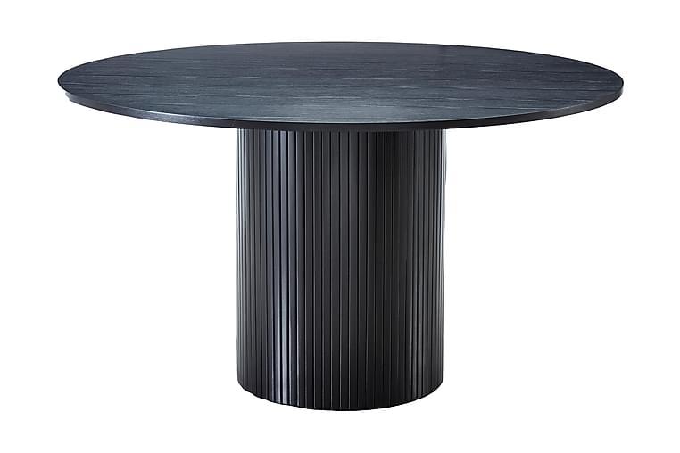 Spisebord Rundt Uppveda 130 cm - Svart - Møbler - Bord - Spisebord & kjøkkenbord
