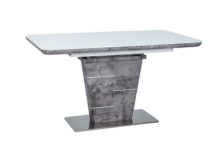 Spisebord Telep Forlengningsbart 140 cm - Glass/Hvit/Grå - Møbler - Bord - Spisebord & kjøkkenbord