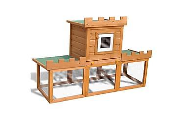 Stort kaninbur med enkelt hus
