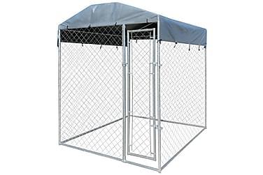 Hundegård med baldakintopp 2x2 m