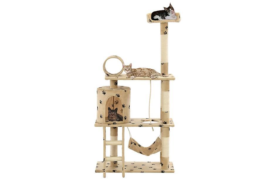 Foxy Kattetre med klorestolper 140 cm Sisal Poteavtrykk