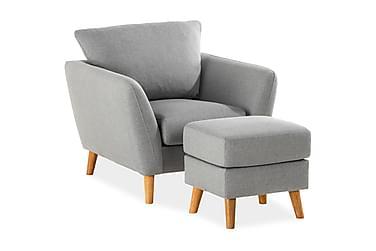 Sofagruppe Colt Lenestol med Fotskammel Lysgrå