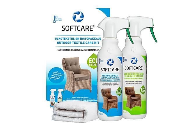 Softcare Vedlikeholdspakke for Utendørstekstiler - Blå|Hvit - Møbler - Møbelpleie - Stoff