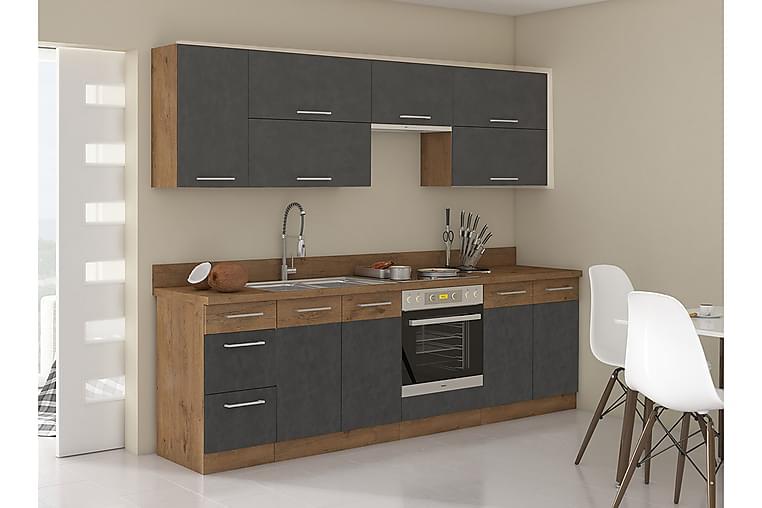Møbelsett Kjøkken Vigo - Eik - Møbler - Møbelsett - Møbelsett til kjøkken & spiseplass