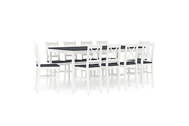 Spisestue 11 deler furu hvit og grå