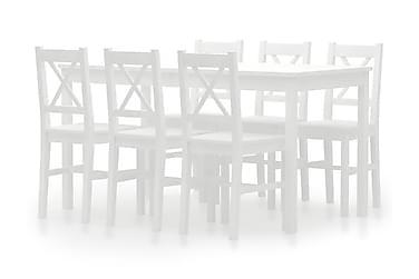 Spisestue 7 deler furu hvit