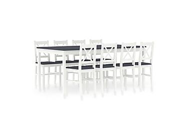 Spisestue 9 deler furu hvit og grå