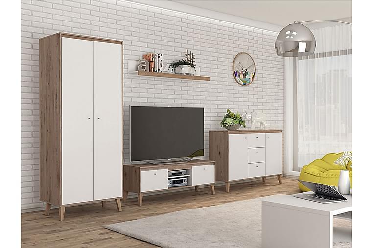 Stue Møbelsett Oviedo - Blå/Hvit - Møbler - Møbelsett - Møbelsett til stue