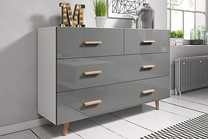 Stuepakke TV-benk+Skjenk+Sofabord Nelda 125 cm - Hvit|Grå - Møbler - Møbelsett - Møbelsett til stue