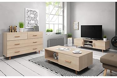 Stuepakke TV-benk+Skjenk+Sofabord Nelda