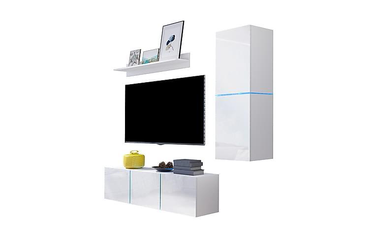 Mediamøbel Domino - Hvit - Møbler - TV- & Mediamøbler - TV-møbelsett