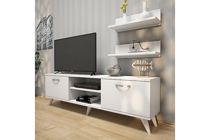 TV-Benk Horveryd 150 cm - Hvit - Møbler - TV- & Mediamøbler - TV-møbelsett