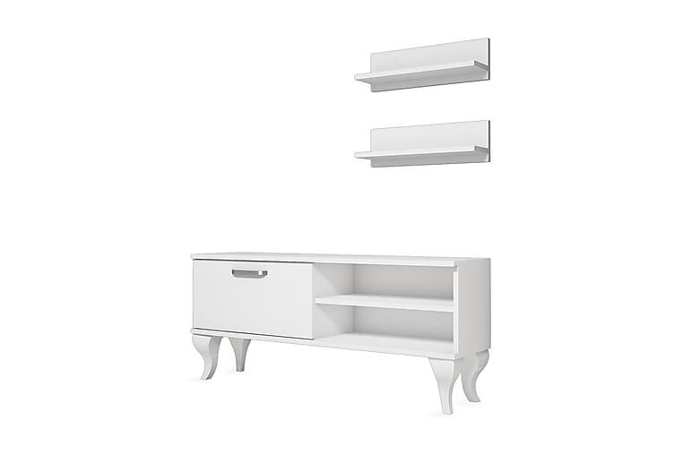 TV-Møbelsett Welfley 120 cm - Hvit - Møbler - TV- & Mediamøbler - TV-møbelsett