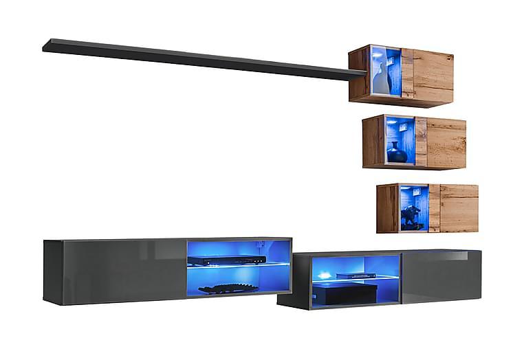 Vidara TV-møbelsett + LED - Møbler - TV- & Mediamøbler - TV-møbelsett