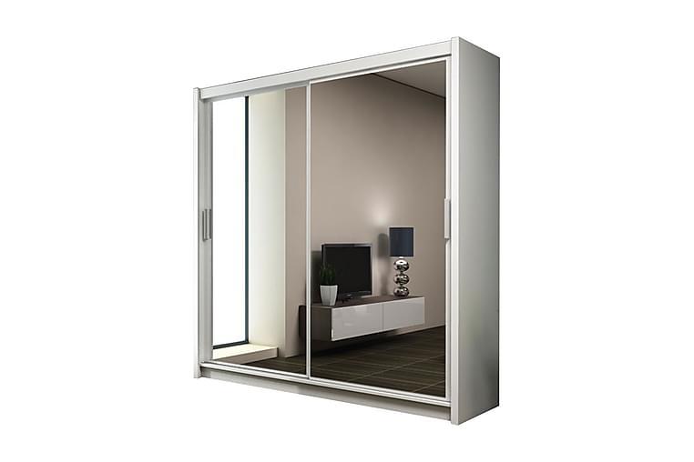 Garderobe Carvin 203 cm - Hvit - Møbler - Oppbevaring - Garderober & garderobesystem