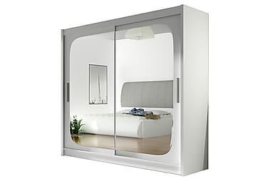 Garderobe London 180 cm Skyvedører Fyrkantig Speil
