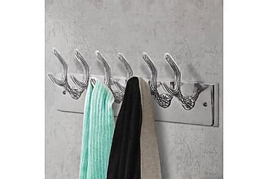 Garderobeknagger 2 stk sølv aluminium