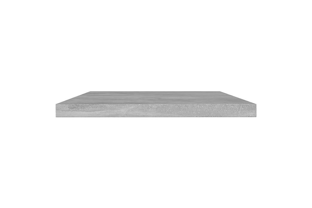 Hylleplater 8 stk betonggrå 60x10x1,5 cm sponplate - Grå - Møbler - Oppbevaring - Garderober & garderobesystem