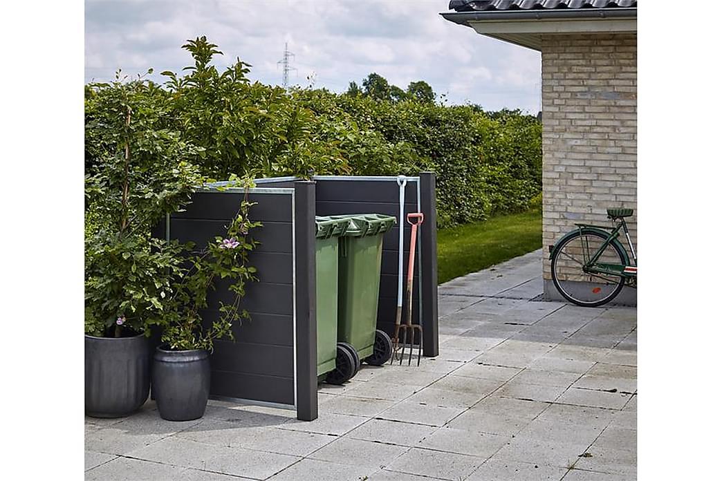 Futura avfallsskjul 198x108x127 cm. (LxBxH) Bygg selv - Grå Hvit - Innredning - Kjøkkenutstyr - Søppelbøtte & papirkurv