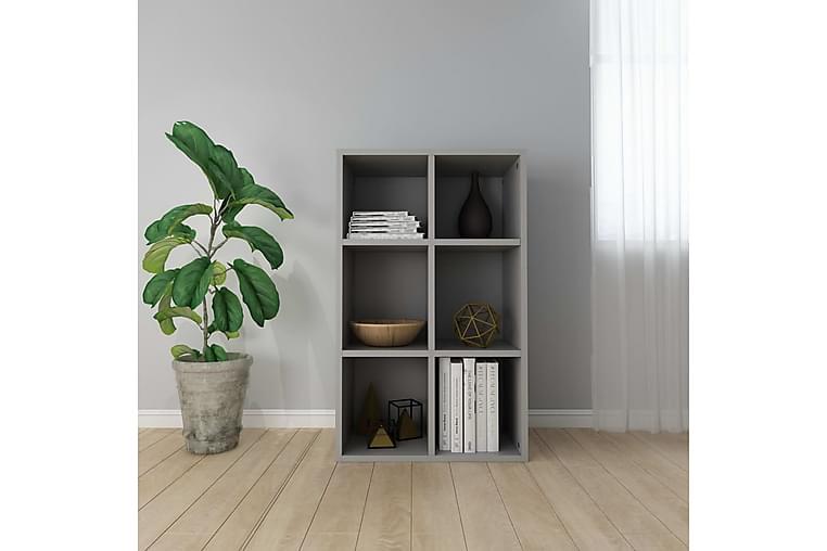 Bokhylle/skjenk grå 66x30x97,8 cm sponplate - Møbler - Oppbevaring - Sideboard & skjenk
