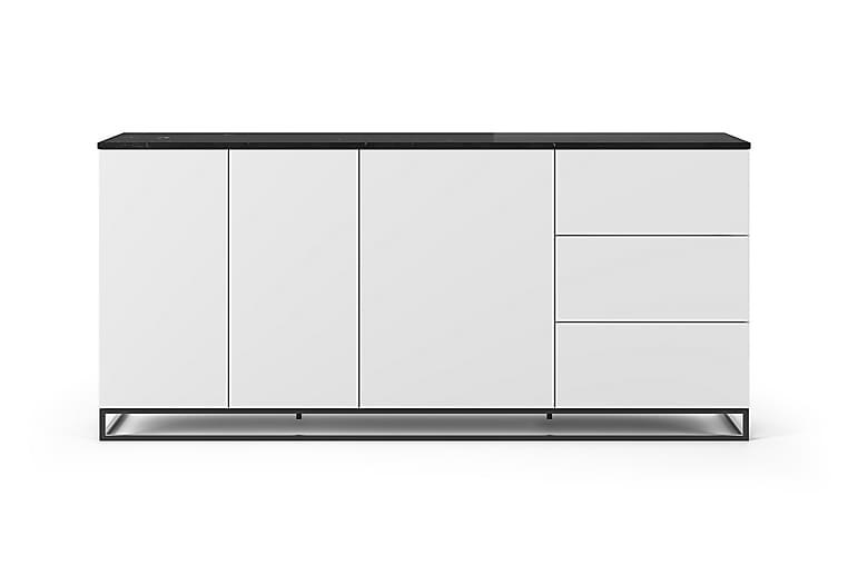 Skjenk Join 200x91 cm Marmor Hvit/Svart/Svart Benstativ - Temahome - Møbler - Oppbevaring - Sideboard & skjenk