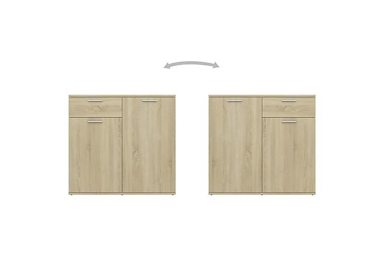 Skjenk sonoma eik 80x36x75 cm sponplate - Brun - Møbler - Oppbevaring - Sideboard & skjenk