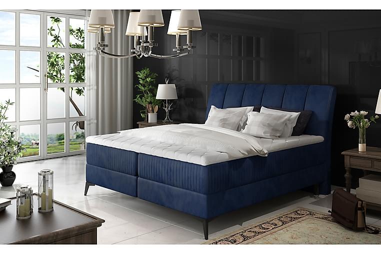 Rammeseng Darnelle 160x200 cm - Blå - Møbler - Senger - Dobbeltsenger