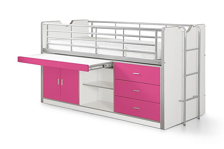 Loftseng/Skrivebord Bringberry - Rosa|Lilla - Møbler - Senger - Køyeseng