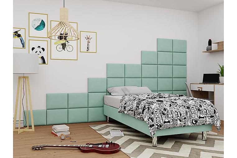 Kontinentalseng Forenza 120x200 cm+Panel 40 cm - Grønn - Møbler - Senger - Komplett sengepakke