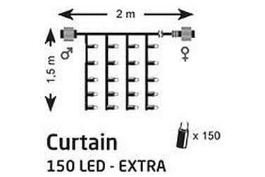 Draperi Lyslenke Chrissline LED 2x1,5 m 150L Ekstra