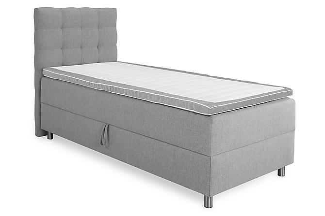 Sengepakke Suset Seng med Oppbevaring Lysgrå - 80x200 - Møbler - Senger - Komplett sengepakke